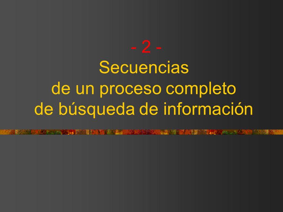 - 2 - Secuencias de un proceso completo de búsqueda de información