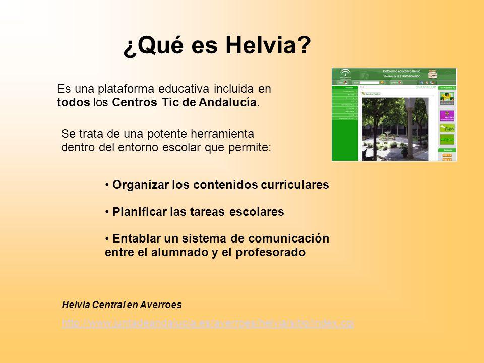 ¿Qué es Helvia.Es una plataforma educativa incluida en todos los Centros Tic de Andalucía.