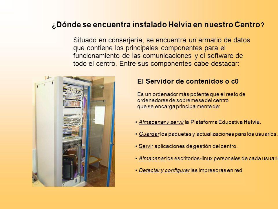 ¿ Dónde se encuentra instalado Helvia en nuestro Centro .