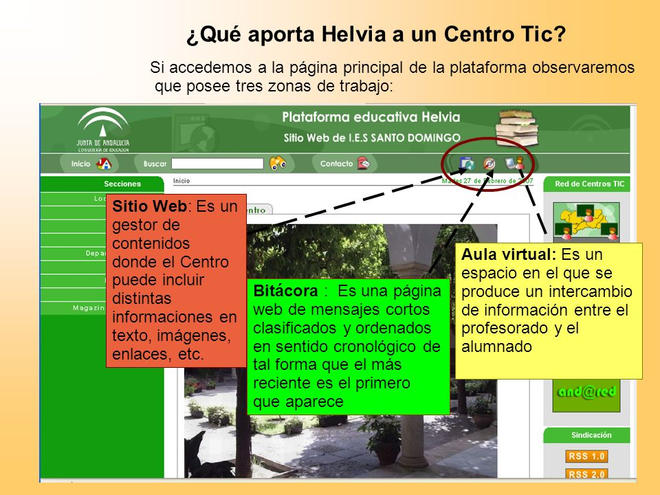 ¿Qué aporta Helvia a un Centro Tic.