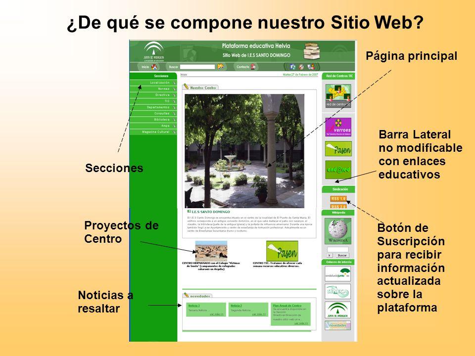¿De qué se compone nuestro Sitio Web.