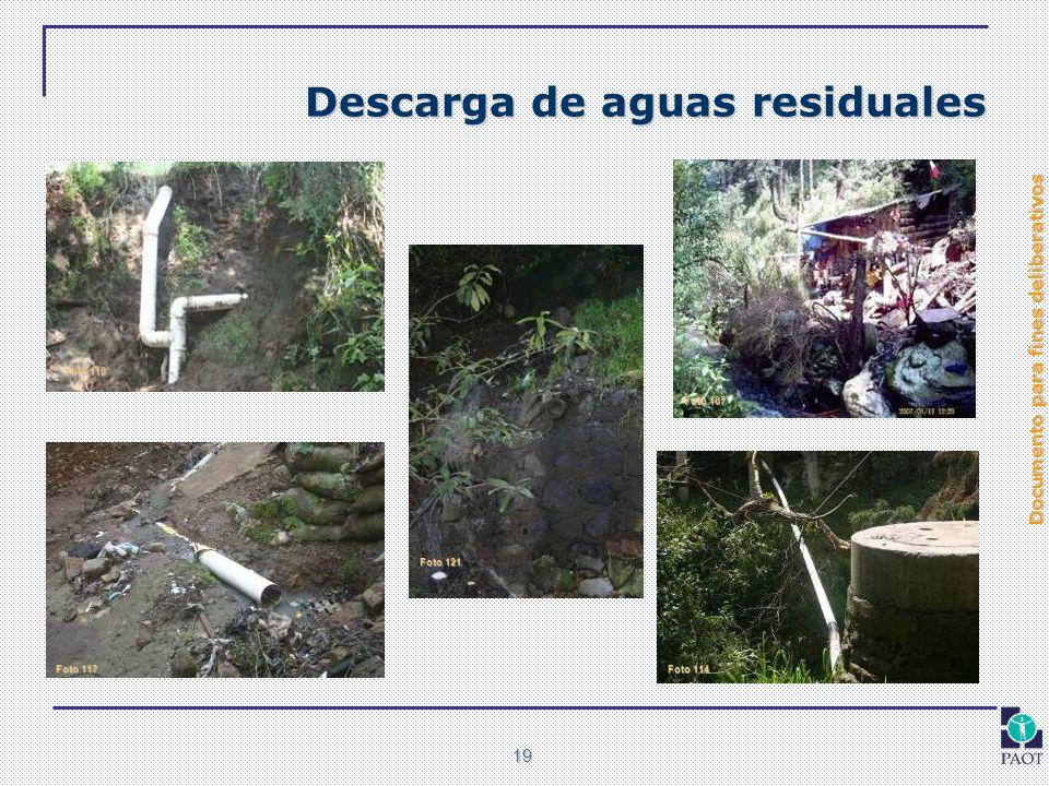 Documento para fines deliberativos 19 Descarga de aguas residuales Foto 107 Foto 110 Foto 114 Foto 117 Foto 121