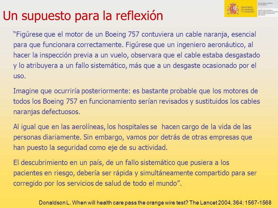 Un supuesto para la reflexión Figúrese que el motor de un Boeing 757 contuviera un cable naranja, esencial para que funcionara correctamente. Figúrese