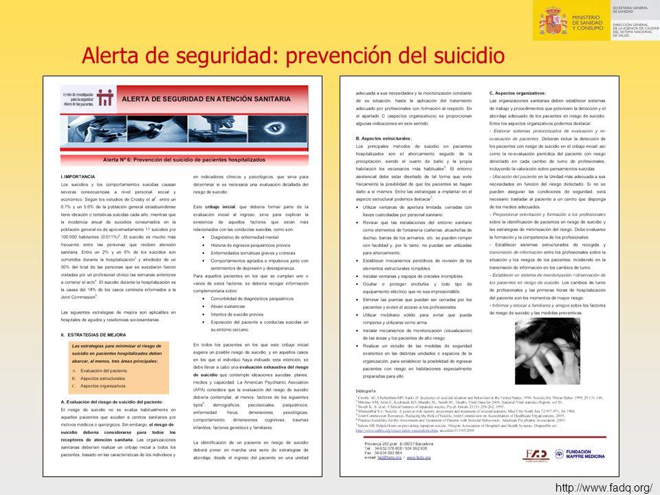 Alerta de seguridad: prevención del suicidio http://www.fadq.org/