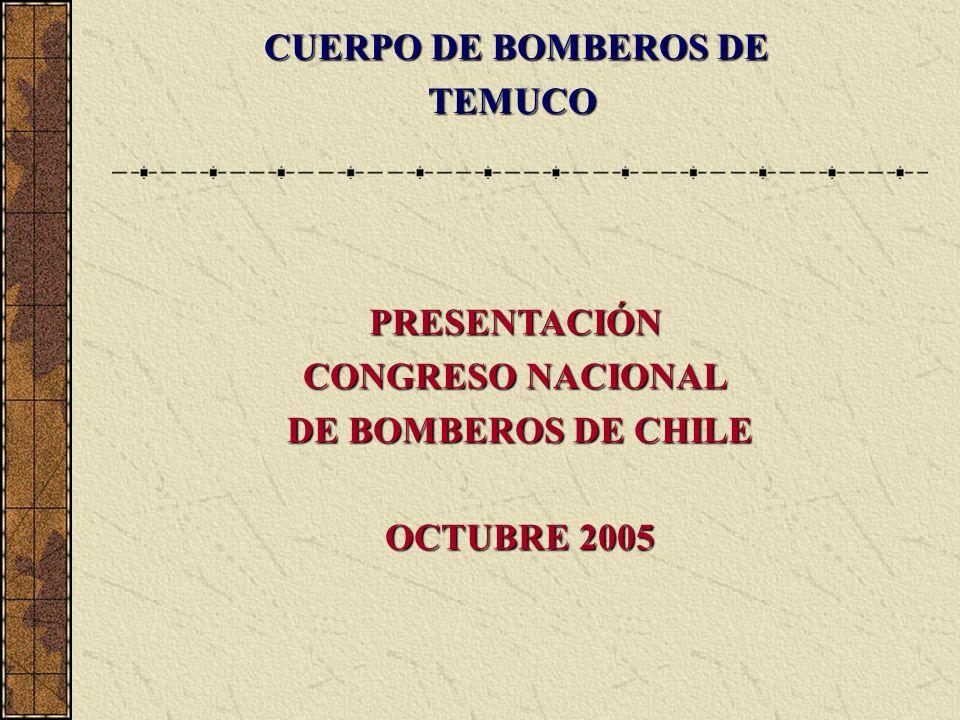 PRESENTACIÓN CONGRESO NACIONAL DE BOMBEROS DE CHILE OCTUBRE 2005 CUERPO DE BOMBEROS DE TEMUCO