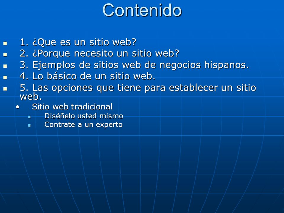 Contenido 1. ¿Que es un sitio web. 1. ¿Que es un sitio web.
