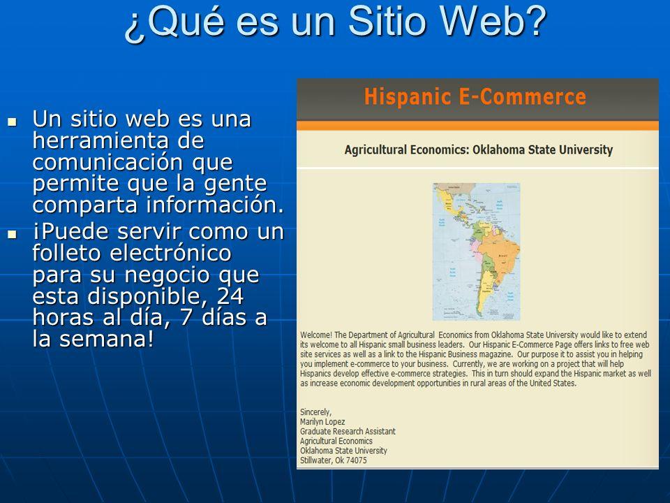 Usted necesitará comprar dos cosas: Usted necesitará comprar dos cosas: 1.Su propio nombre del dominio www.sunegocio.com www.sunegocio.com Ejemplo: www.toyota.com Ejemplo: www.toyota.comwww.toyota.com Esto es lo que los clientes usan para encontrar su sitio web.