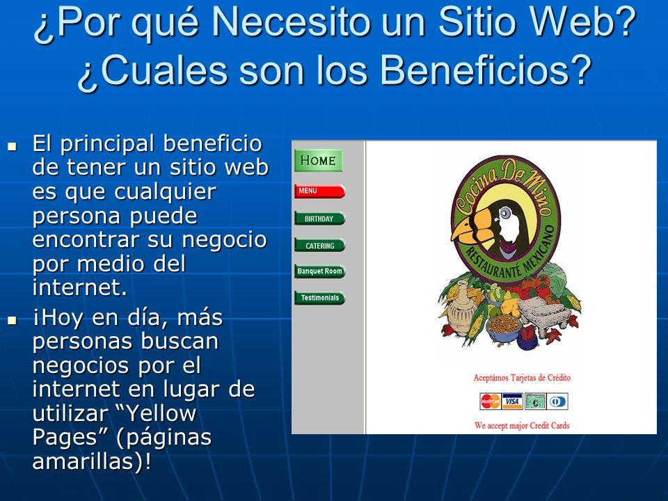 ¿Por qué Necesito un Sitio Web. ¿Cuales son los Beneficios.