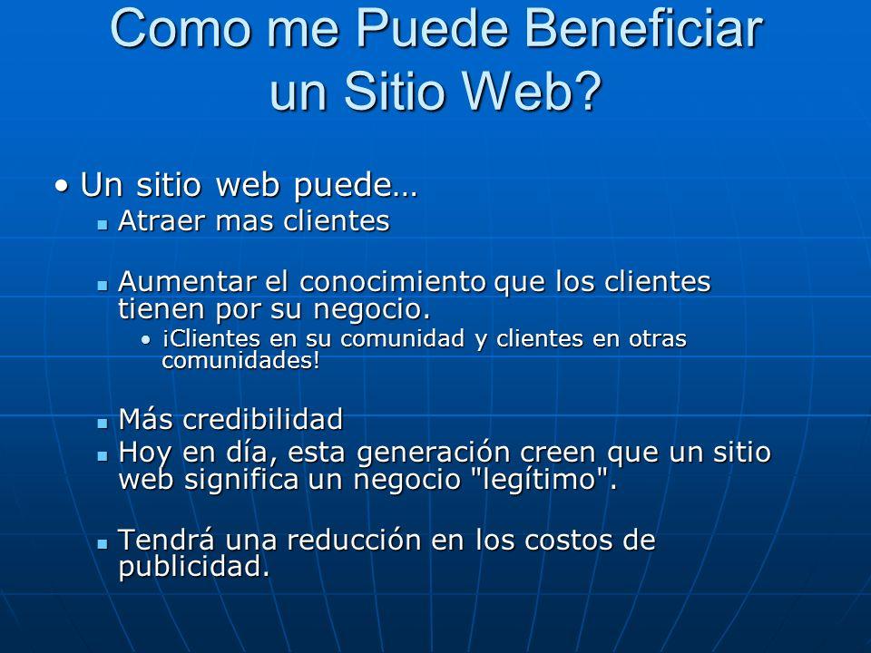 Como me Puede Beneficiar un Sitio Web.