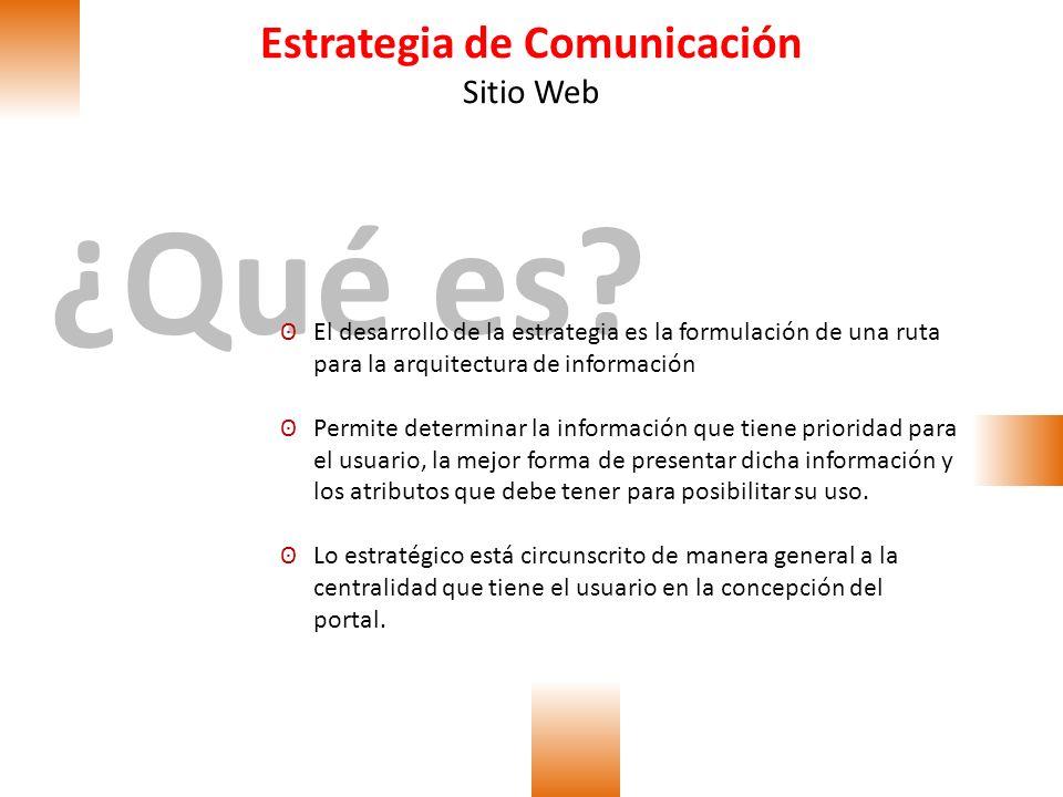 Estrategia de Comunicación Sitio Web Target Los que buscan empleo Los que ofrecen empleo