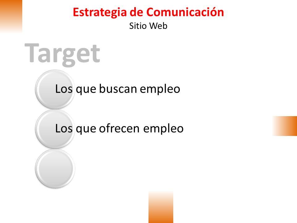 Estrategia de Comunicación Sitio Web Objetivos Objetivo general del portal ʘPoner a disposición un portal de búsqueda y oferta de empleo enfocado en las empresas de la zona franca de Bogotá.