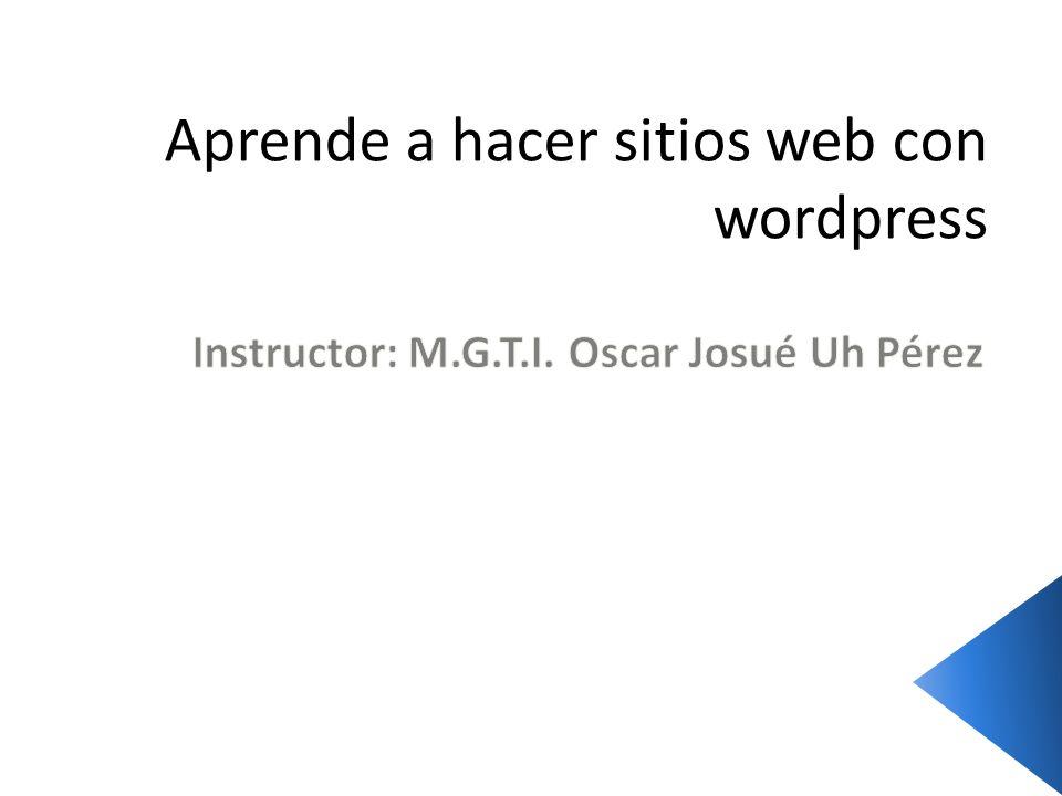 Aprende a hacer sitios web con wordpress
