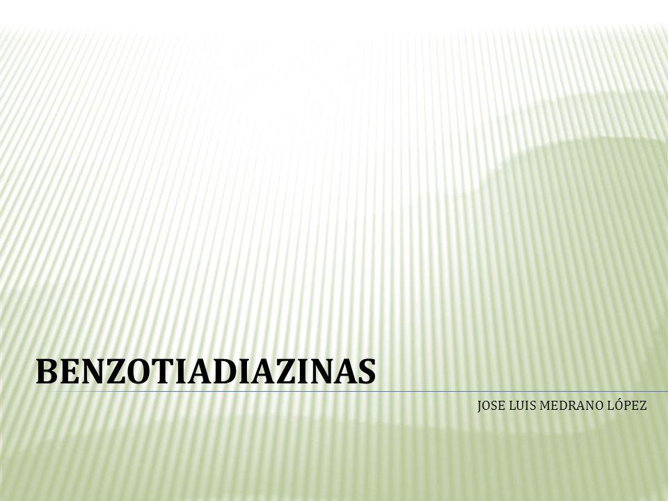 BENZOTIADIAZINAS JOSE LUIS MEDRANO LÓPEZ
