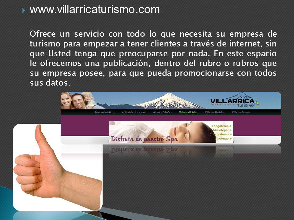 Ofrece un servicio con todo lo que necesita su empresa de turismo para empezar a tener clientes a través de internet, sin que Usted tenga que preocupa
