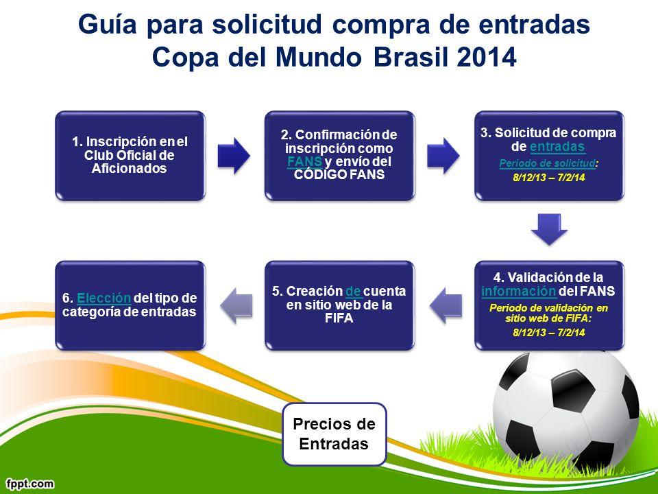 Guía para solicitud compra de entradas Copa del Mundo Brasil 2014 1.