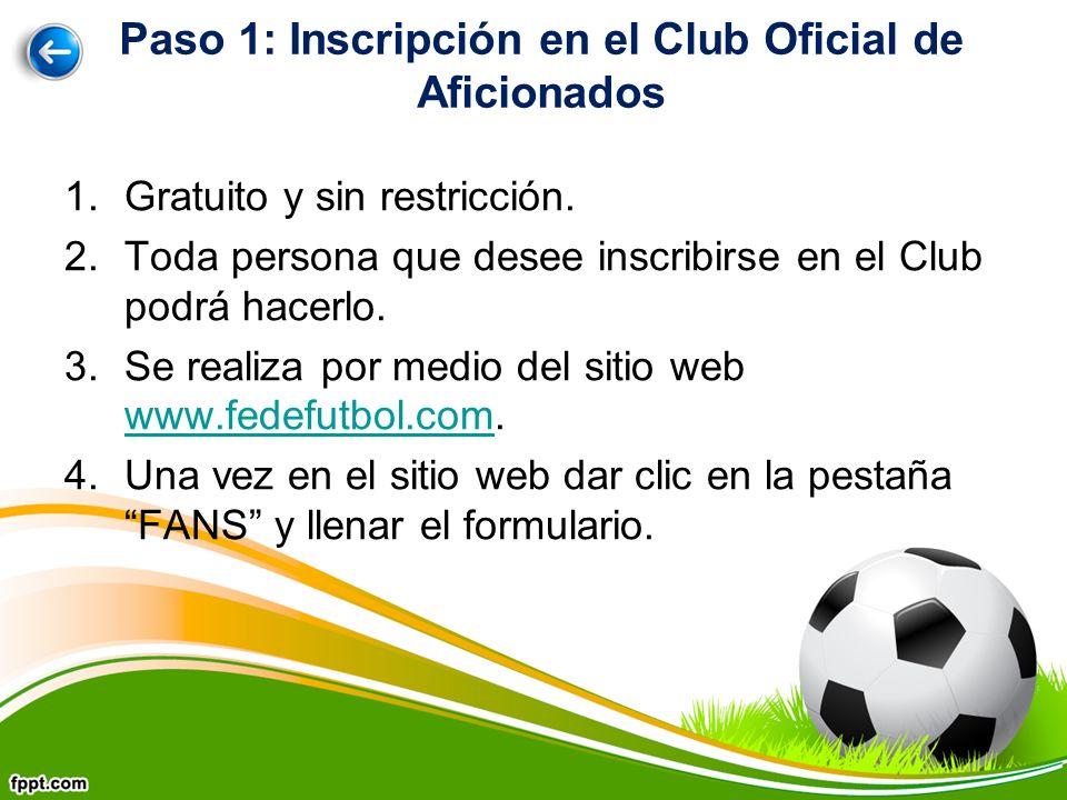 1.Gratuito y sin restricción. 2.Toda persona que desee inscribirse en el Club podrá hacerlo.