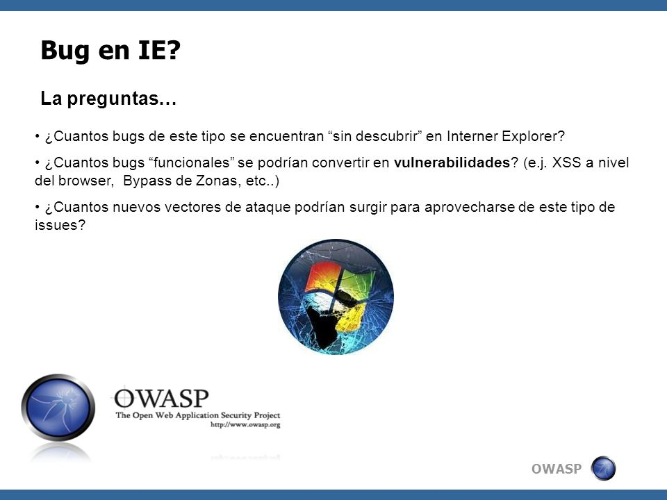 OWASP Bug en IE.