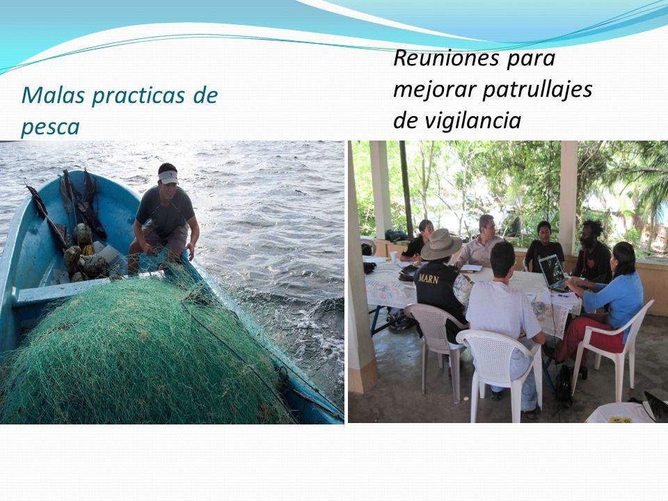 Malas practicas de pesca Reuniones para mejorar patrullajes de vigilancia