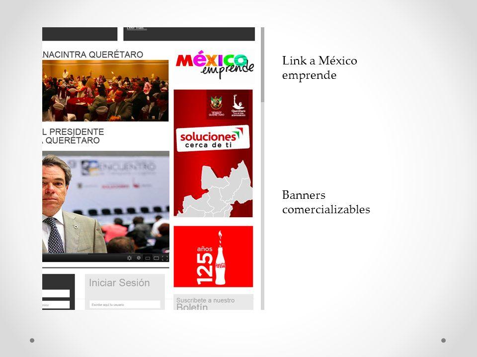 Banners comercializables Link a México emprende