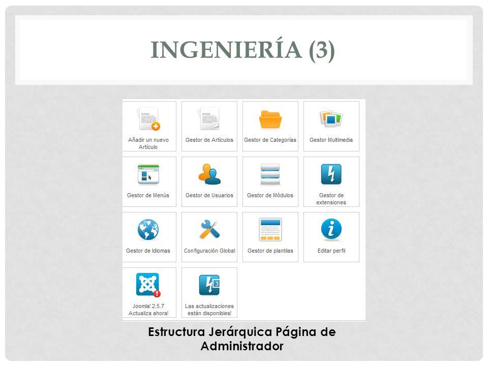 INGENIERÍA (3) Estructura Jerárquica Página de Administrador