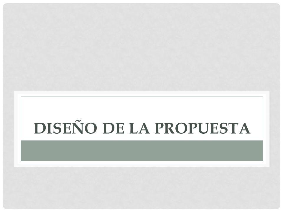DISEÑO DE LA PROPUESTA