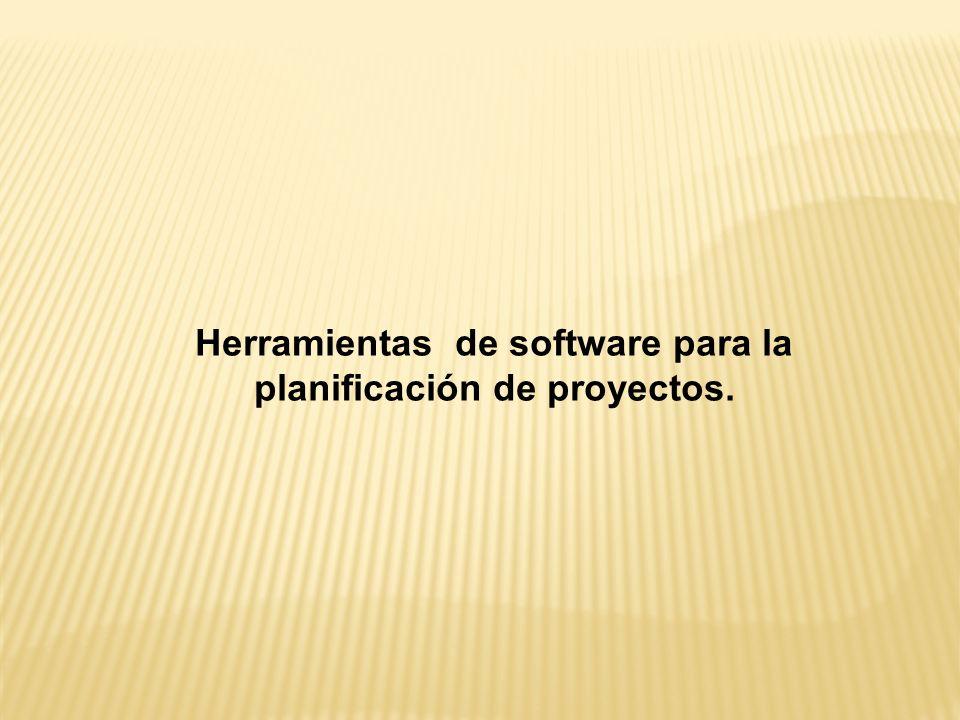 Herramientas de software para la planificación de proyectos.