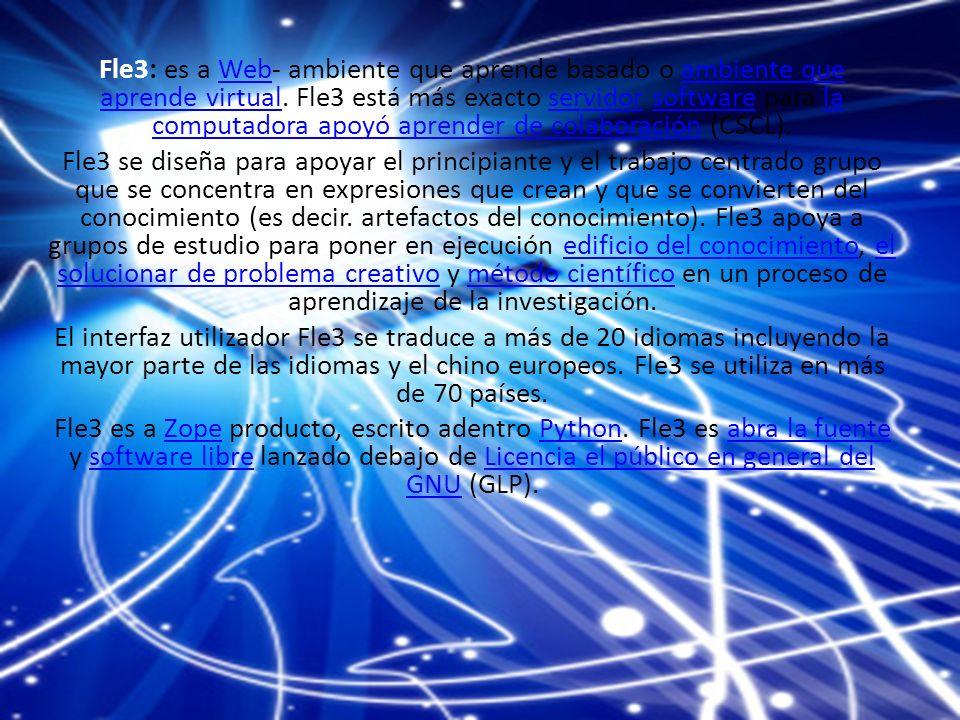 Fle3: es a Web- ambiente que aprende basado o ambiente que aprende virtual.