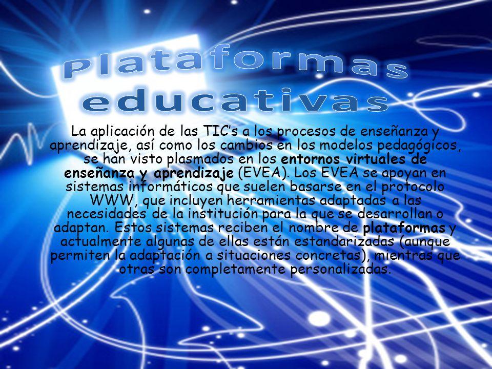 La aplicación de las TICs a los procesos de enseñanza y aprendizaje, así como los cambios en los modelos pedagógicos, se han visto plasmados en los entornos virtuales de enseñanza y aprendizaje (EVEA).