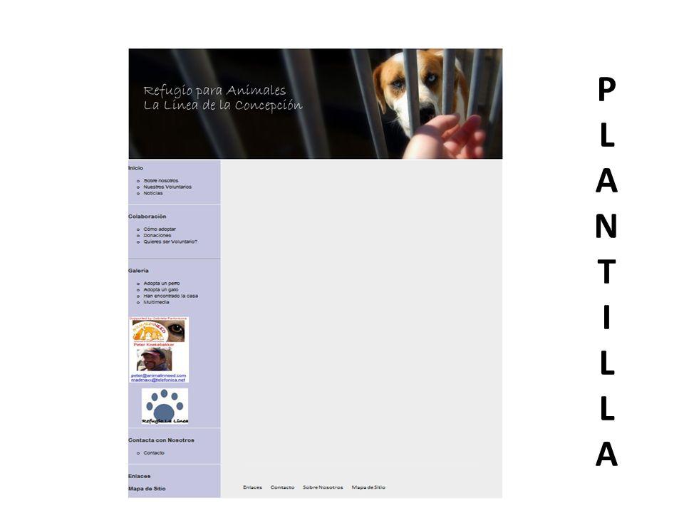 Plantilla-Componentes Banner- Presente en todas las páginas que componen el sitio web.