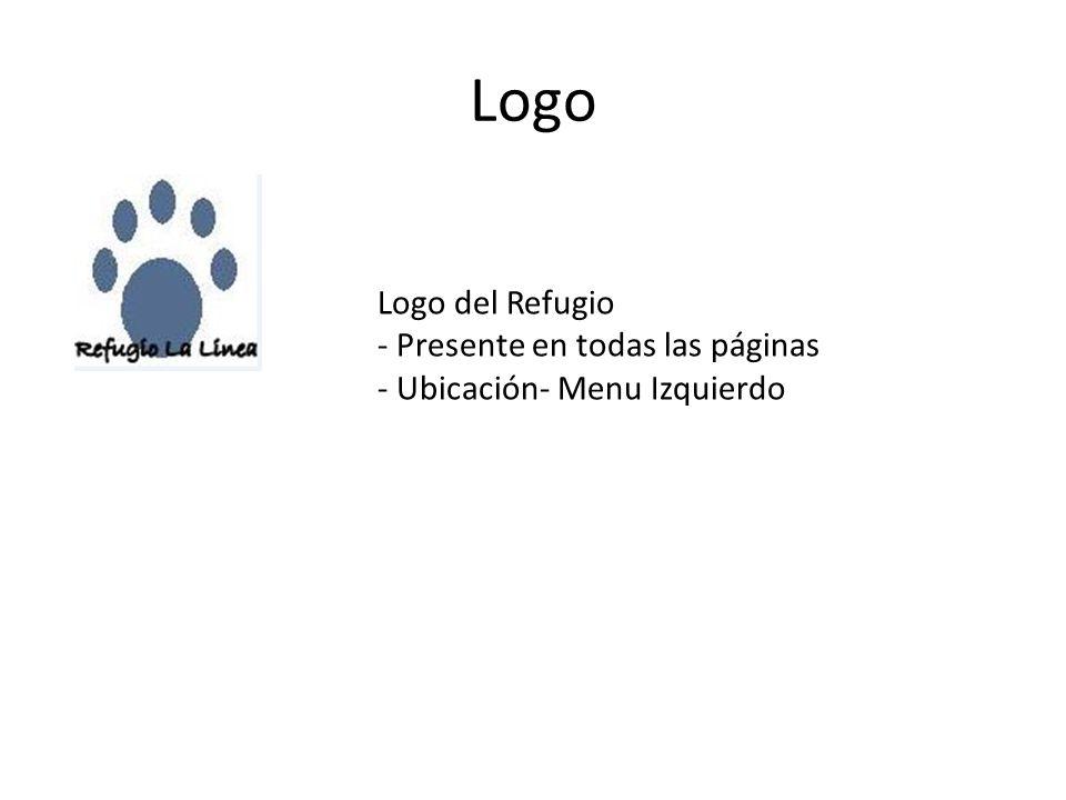 Logo Logo del Refugio - Presente en todas las páginas - Ubicación- Menu Izquierdo