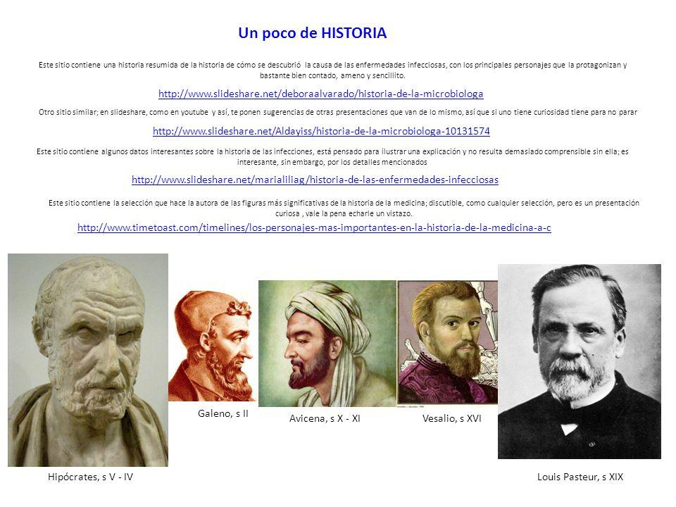 http://www.slideshare.net/marialiliag/historia-de-las-enfermedades-infecciosas Un poco de HISTORIA Este sitio contiene algunos datos interesantes sobr