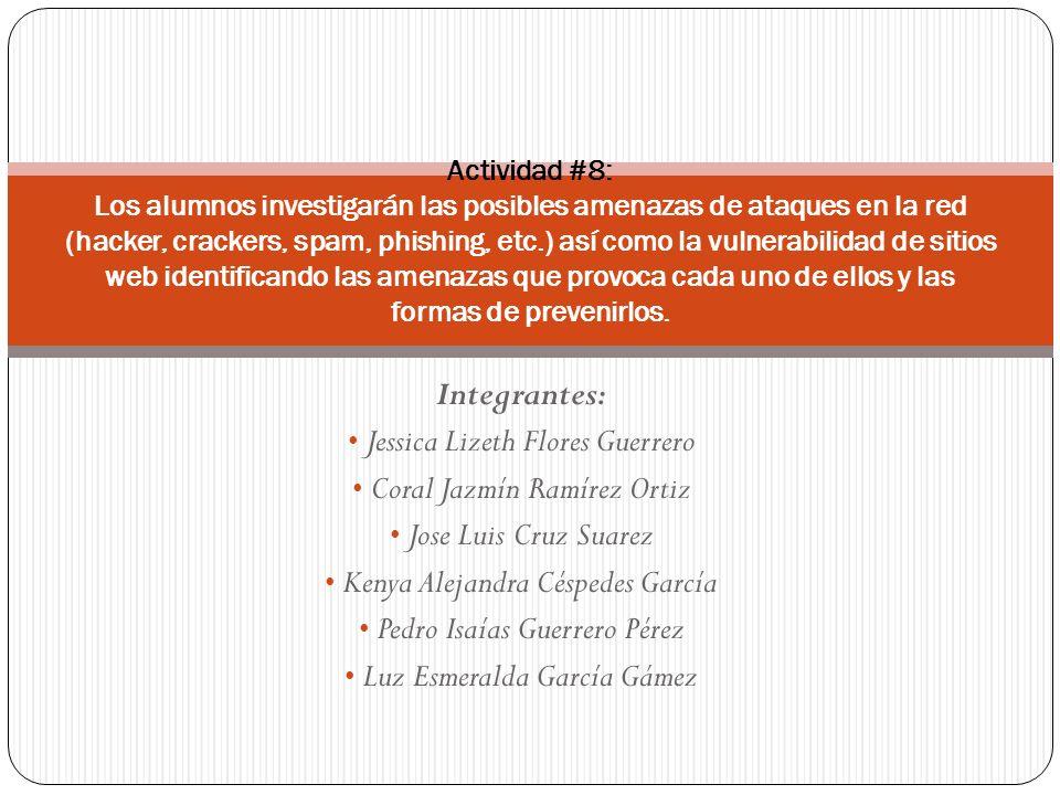 POSIBLES AMENAZAS DE ATAQUES EN LA RED.