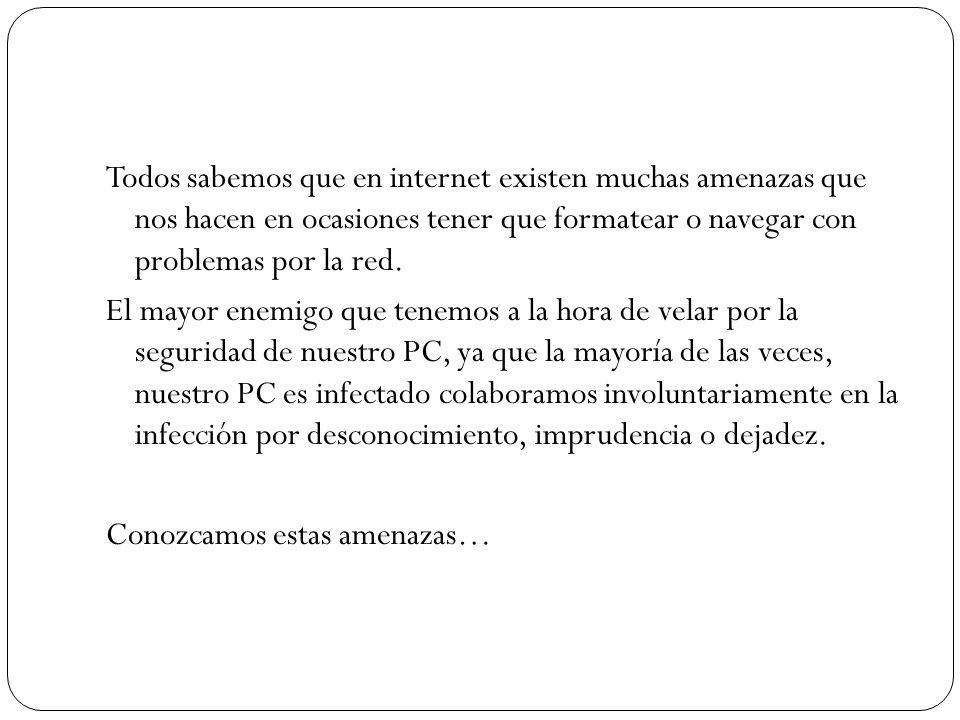 Todos sabemos que en internet existen muchas amenazas que nos hacen en ocasiones tener que formatear o navegar con problemas por la red. El mayor enem