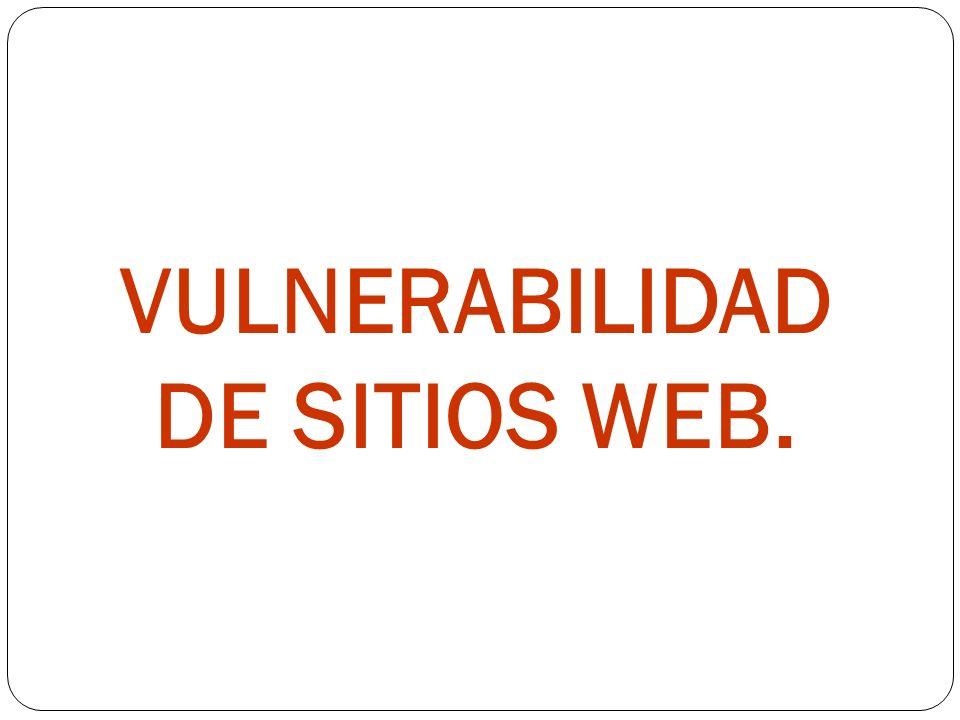 VULNERABILIDAD DE SITIOS WEB.