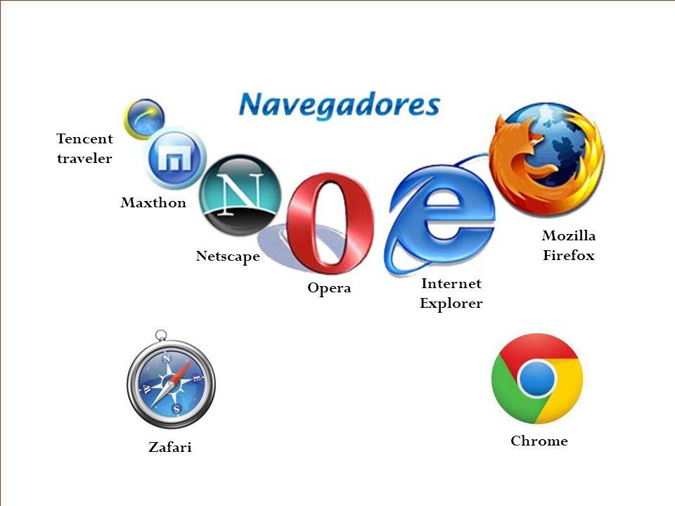 y Internet Explorer Google Chrome Opera Mozilla Firefox Netscape Zafari Maxthon Tencent traveler