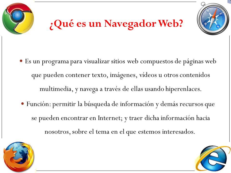 Es un programa para visualizar sitios web compuestos de páginas web que pueden contener texto, imágenes, vídeos u otros contenidos multimedia, y naveg