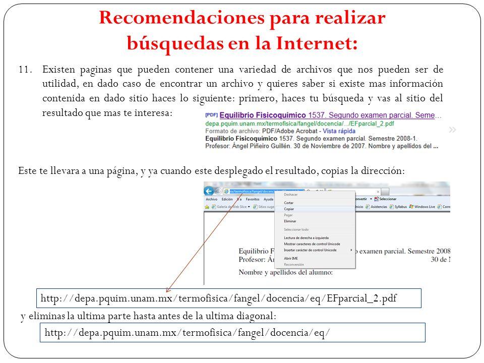 11.Existen paginas que pueden contener una variedad de archivos que nos pueden ser de utilidad, en dado caso de encontrar un archivo y quieres saber s