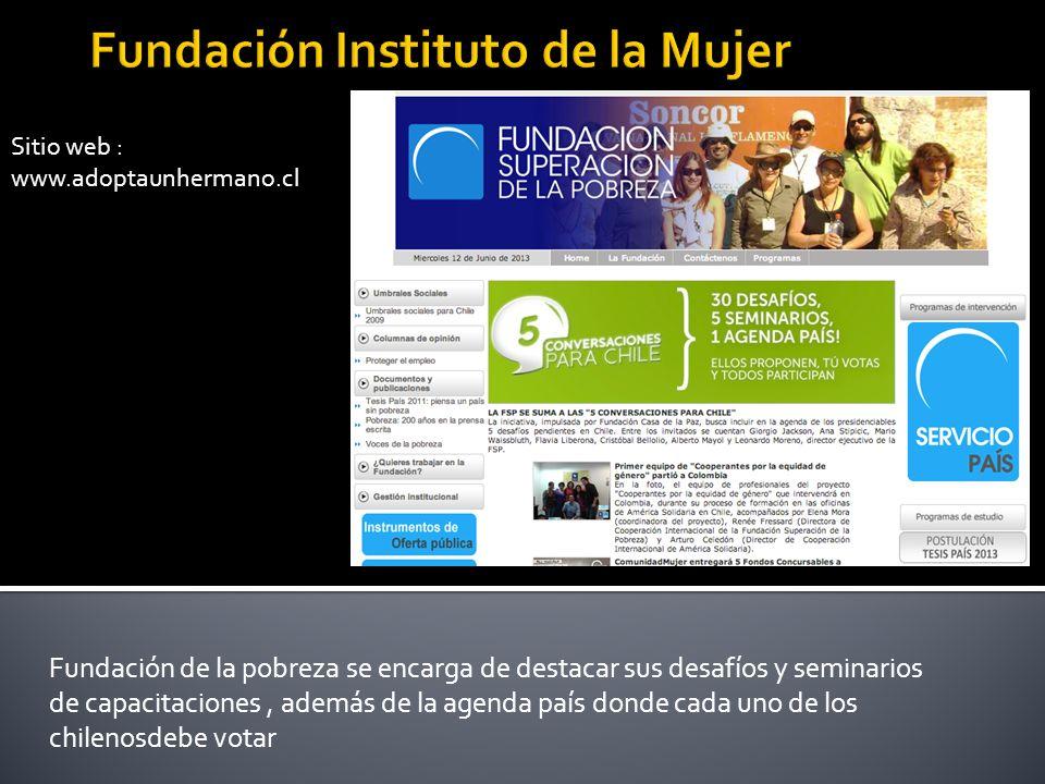 Sitio web : www.mariaayuda.cl Caracteristica principal : Colecta 2013 te invita a depositar aportes a través de web pay apelando a la emotividad con niños pequeños que necesitan sonrisas.