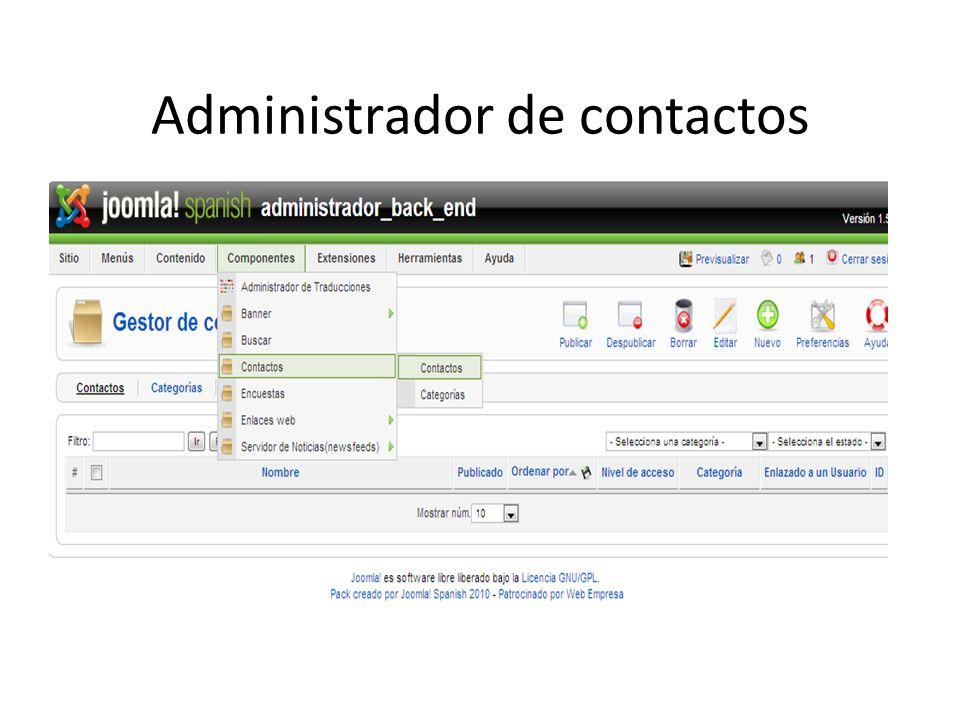Administrador de contactos