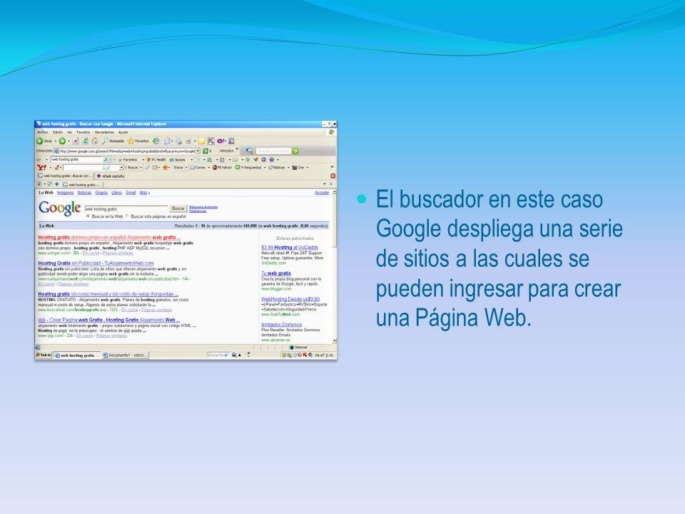 Secuencia Gráfica Debe ingresar a Internet Explorer y seleccionar un buscador.