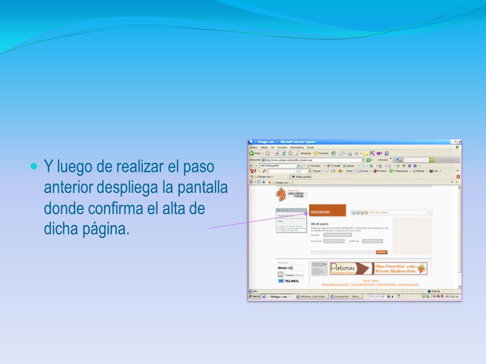 Seleccionado la opción anterior despliega la pantalla para efectos del registro debiendo ingresar los datos que allí se requieren y luego clic en Cont