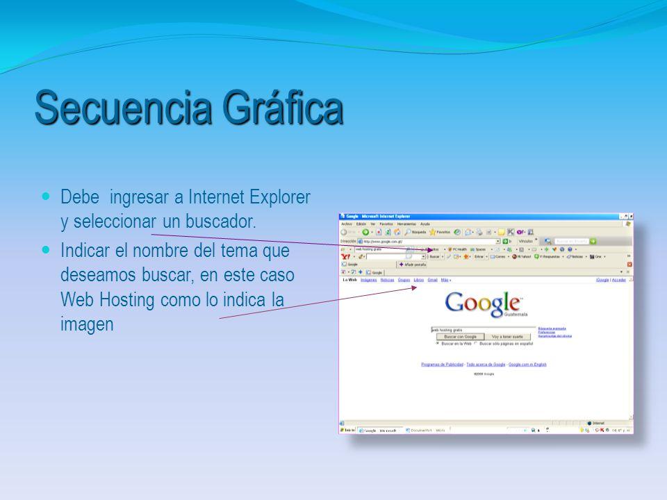 1.1. Pasos para Búsqueda de Sitios de Web Hosting (Gratuitos) 1.1. Pasos para Búsqueda de Sitios de Web Hosting (Gratuitos)
