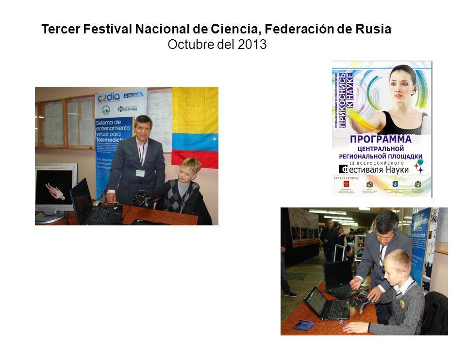 Tercer Festival Nacional de Ciencia, Federación de Rusia Octubre del 2013