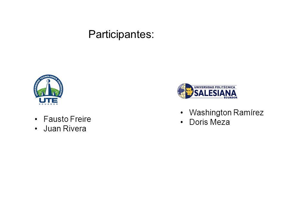 Fausto Freire Juan Rivera Washington Ramírez Doris Meza Participantes: