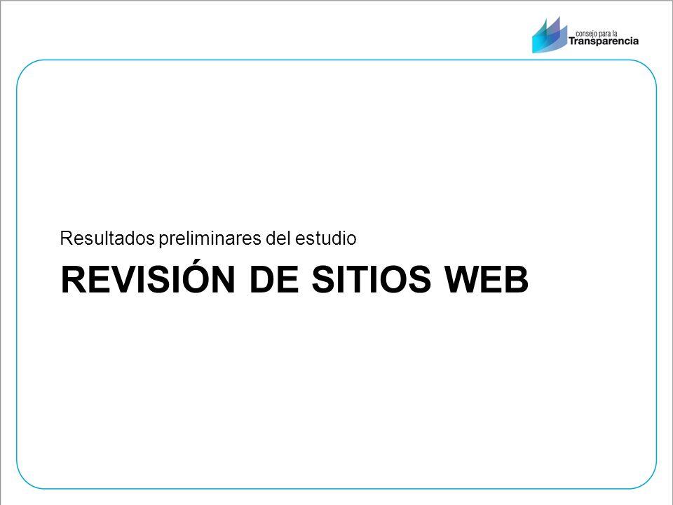 REVISIÓN DE SITIOS WEB Resultados preliminares del estudio