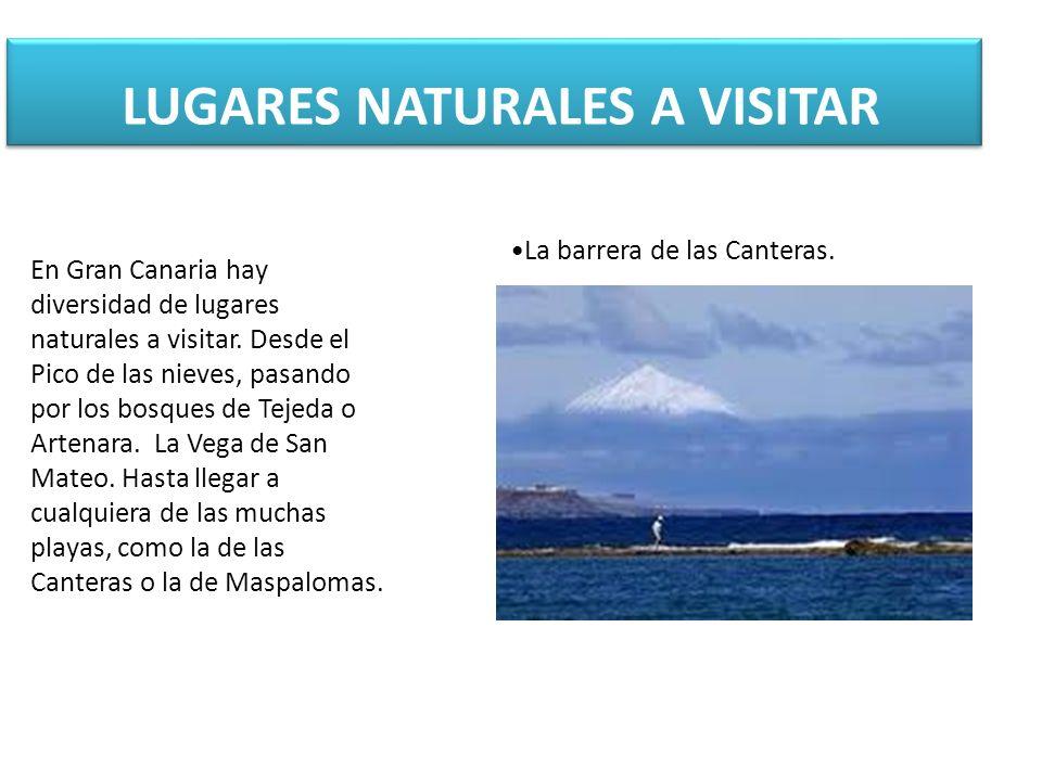 LUGARES NATURALES A VISITAR En Gran Canaria hay diversidad de lugares naturales a visitar.