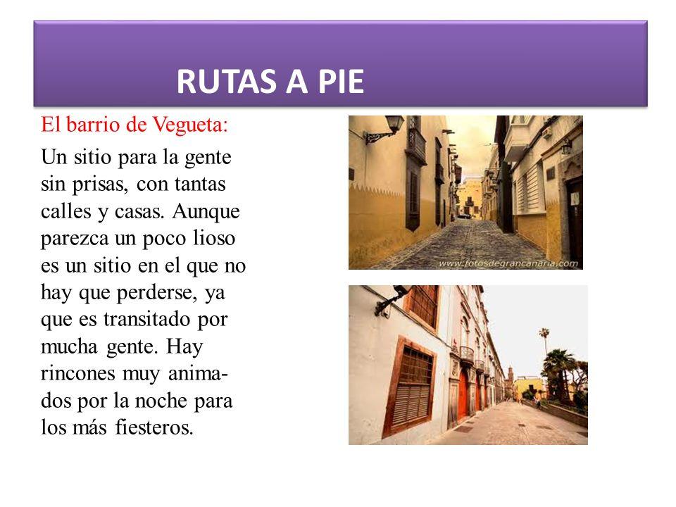 RUTAS A PIE El barrio de Vegueta: Un sitio para la gente sin prisas, con tantas calles y casas.