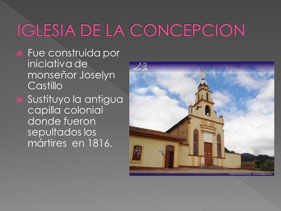 Fue construida por iniciativa de monseñor Joselyn Castillo Sustituyo la antigua capilla colonial donde fueron sepultados los mártires en 1816.