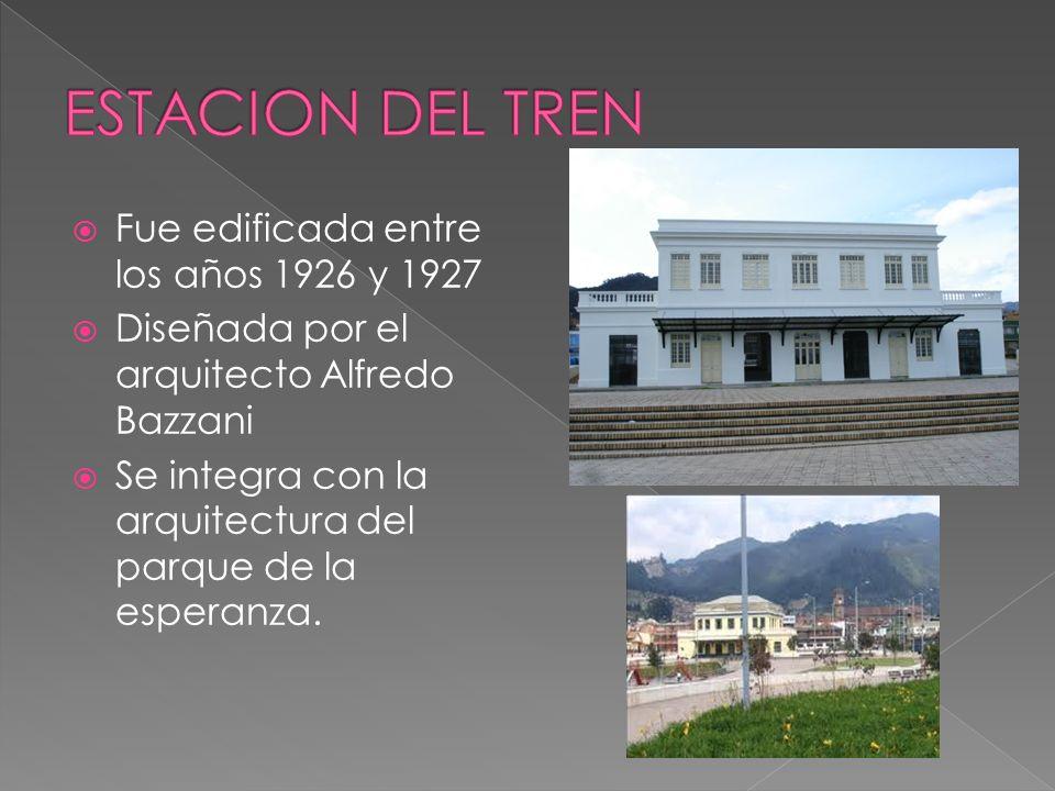 Fue edificada entre los años 1926 y 1927 Diseñada por el arquitecto Alfredo Bazzani Se integra con la arquitectura del parque de la esperanza.