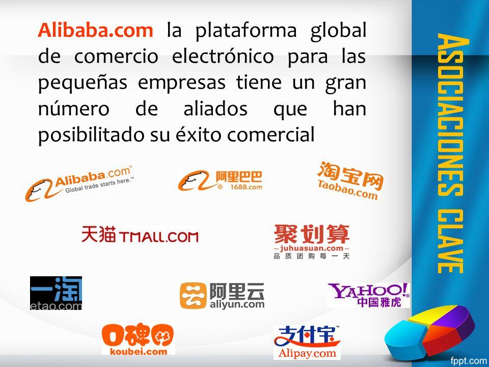 A SOCIACIONES CLAVE Alibaba.com la plataforma global de comercio electrónico para las pequeñas empresas tiene un gran número de aliados que han posibi